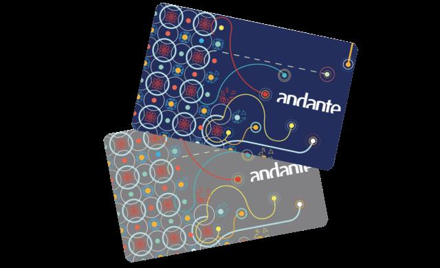Cartão Andante - Tarjeta Andante - Metro de Oporto